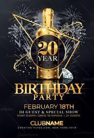 Birthday Flyers Elegant Birthday Flyer