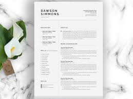Resume Resume Template Page Cv By Templates On