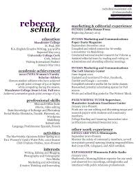 creative writing resume sample media resume examples resume  writers resume template writer resume template technical writer