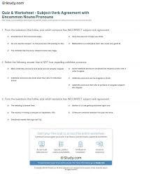 Singular Verb Agreement Plural Noun Worksheets 2nd Grade ...