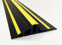 garage door floor seal30mm Black  Yellow Rubber Garage Threshold Seal  JA Seals