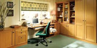 latest office furniture. Wonderful Fitted Home Office Furniture In Mountain Oak Pertaining To Latest