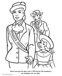 women s right to vote american history for kid coloring pages