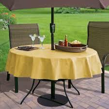 outdoor round tablecloth umbrella hole designs
