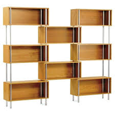 wood block shelves furniture light brown wooden block shelves connected with silver steel poles plus short wood block shelves