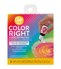 Wilton Food Gel Chart Wilton Color Right Performance Food Coloring Set