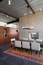 metal home furniture. Charming Home Interior Decoration With Rustic Albuquerque Furniture : Cool Modern Dining Room Using Corrugated Metal