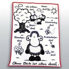 Sheepworld Kuscheldecke Ohne Dich Ist Alles Doof Größe 150 X 200