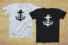 моряк джерри татуировки якорь логотип черный белый футболка Xs 3xl