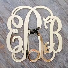 mirror letters. gold acrylic mirror script monogram letters