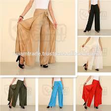 Wrap Pants Pattern Extraordinary Womens Thai Silk Wrap Pantssarong Palazzo Harem Yoga Hippie Wide