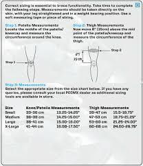 Pod Size Chart Pod Mx K300 Knee Braces Pair Large Knee Guard Protection