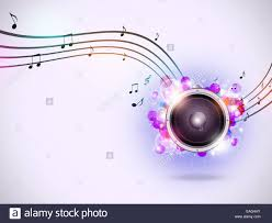 Light And Sound Design Interesting Abstract Music Background With Sound Speaker And