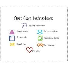 Easy-Going Care Instructions with Symbols Only & AddThis Sharing Sidebar Adamdwight.com