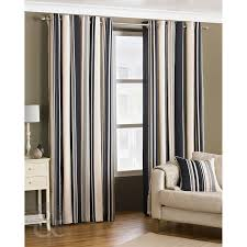 fully lined cream grey black curtain pair black grey cream