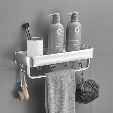 wall mounted aluminum bathroom shelves