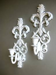 wall sconce ideas stunning white sconces for candles within candle holders decor 1