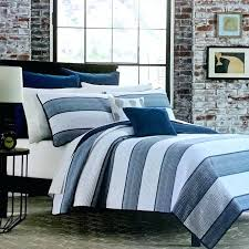 quilt sets blue and white striped with thin square blanket rectangle navy bedding exciting ideas