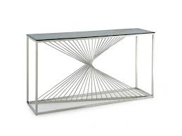 steel console table brilliant glass stainless for affordable home with regard to 16
