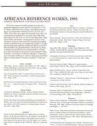 Africana Reference Works 1991 Asa News Cambridge Core
