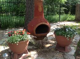 chiminea terracotta clay chiminea gas fire pit mexican clay chimney outdoor fireplace