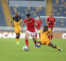 نهاية الشوط الأول الأهلي 0-0 كايزر تشيفز نهائي دوري أبطال إفريقيا التعادل  السلبي سيد الموقف في الشوط الأول - نيولي