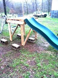 homemade above ground pool slide. Above Ground Pool Slide Homemade Playground Picture Of Swing And A