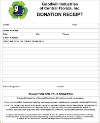 Goodwill Donation Receipt 13 Examples In Word Pdf