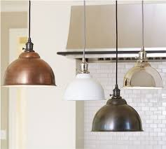 Bell Shaped Pendant Lights Bell Shaped Kitchen Lighting From Pottery Barn Kitchen