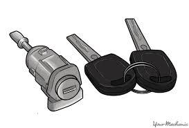 car door lock cylinder next to some car keys