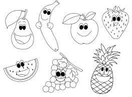 Fruit coloring pages for children to print and color. Free Printable Fruit Coloring Pages For Kids Fruit Coloring Pages Vegetable Crafts Happy Fruit