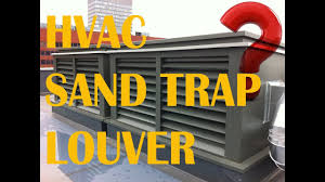 Sand Trap Louver Design Sand Trap Louver Friction Loss Sizing Equations Face Velocity Selections