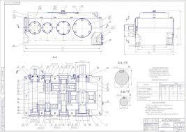 Курсовая работа Разработка конструкции привода для конвейера  чертеж Курсовая работа