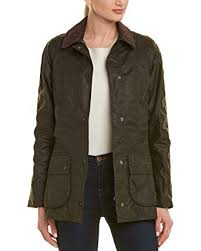 Barbour Womens Beadnell Wax Jacket 18 Olive At Amazon