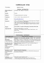 Company Secretary Resume Format Fresh Best Resume Format Pdf For