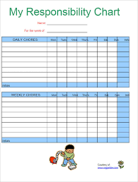22 Chore Chart Template Free Pdf Excel Word Formats