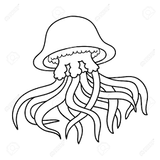 coloring book for children jellyfish stock vector 50044429