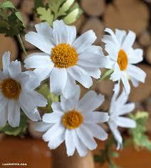 Paper Flower Video Diy Easy Crepe Paper Daisy Flower Video Tutorial Paper