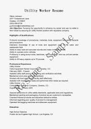 Writing Objective For Resume 21 How To Write Objectives Resumes. utility  worker ...