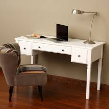 comfortable chair and small writing desk design for cute home office ideas with cherry red wooden floor and metal table lamp attractive cool office decorating ideas 1 office