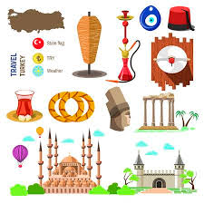 turkey country culture. Beautiful Turkey Set Of Country Turkey Culture And Traditional Symbols Collection Icons  Mosque Tower Intended Country Culture H