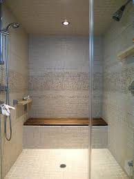 modern shower bench teak bathroom walk in glass door fold down seat