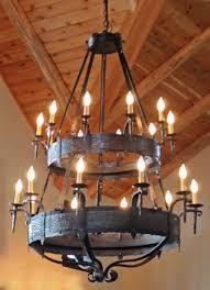 rustic 2 tier kitchen chandelier ideas