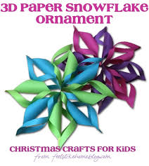 paper snowflakes 3d 3d paper snowflakes christmas crafts for kids feels like home