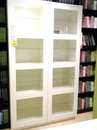 ikea bookshelves with glass doors awesome bookshelves with glass doors appealing new empty within breathtaking white