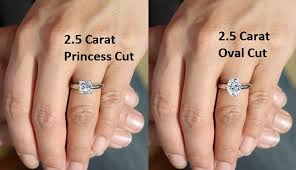Engagement Ring Diamond Size Chart 2 5 Carat Diamond Ring The Definitive Guide To Shopping