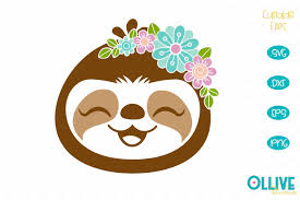 You can copy, modify, distribute and perform the work, even for commercial purposes, all without asking permission. Floral Sloth Svg 555994 Cut Files Design Bundles