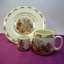 details about vine royal doulton bunnykins christening three piece porcelain gift set