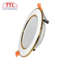 Đèn LED âm trần Downlight 9W lỗ khoét 90 viền Vàng giá rẻ chất lượng cao
