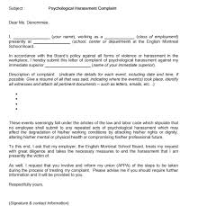 Letters Of Complaint 5 Harassment Complaint Letters Find Word Letters